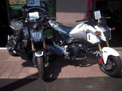 Kawasaki Z125とHONDA GROM
