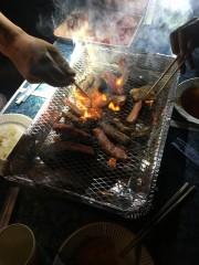 バーベキューで肉祭りです