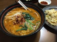坦々麺とチャーハンセット